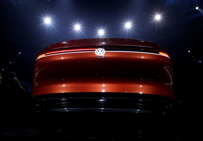 FILE PHOTO: A Volkswagen I.D. concept car is displayed at a media event in Beijing