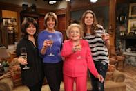 """<p>From 2010 until 2014, White played the role of Elka Ostrovsky in TV Land's sitcom <em>Hot in Cleveland</em>. Originally, White had only agreed to do the pilot of the show, although she ended up staying. <a href=""""https://www.closerweekly.com/posts/betty-white-hot-in-cleveland-149653/"""" rel=""""nofollow noopener"""" target=""""_blank"""" data-ylk=""""slk:She once said"""" class=""""link rapid-noclick-resp"""">She once said</a>, """"I agreed to do a guest stint on a pilot. I said 'yes' provided it would be only a one-shot deal."""" She went on to be nominated for an Emmy award for Outstanding Supporting Actress in a Comedy Series for the part. </p>"""