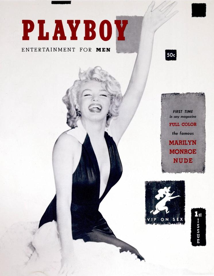 <p>Iconic actress Marilyn Monroe was the perfect person to launch Playboy magazine. Selling for 50 cents, the first ever issue was produced in Hugh Hefner's kitchen. Surprisingly, Monroe never posed for the magazine. Instead, Hefner used nude photos of her taken from a calendar.<br /><i>[Photo: Playboy]</i> </p>