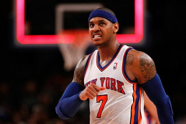 Carmelo Anthony is confident he can still play in the NBA despite being released by Houston this year (AFP Photo/JEFF ZELEVANSKY)