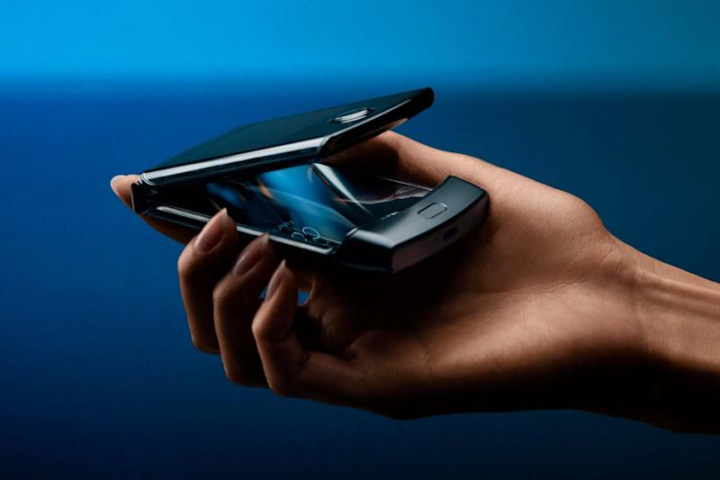 Motorola has updated the historical flip-phone design of the Razr to a smartphone with a foldable screen (AP)