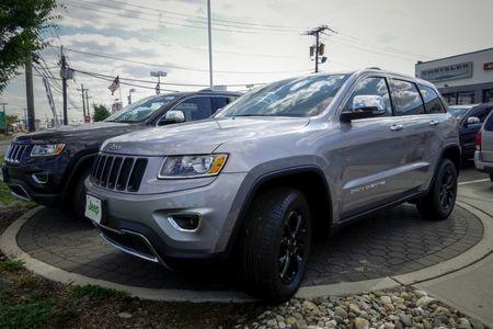 The 2015 Jeep Grand Cherokee is exhibited in Jersey City