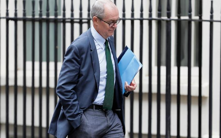 Patrick Vallance, Chief Scientific Adviser to the Government arrives in Downing Street in London, Wednesday, Sept. 9, 2020. - Kirsty Wigglesworth/AP