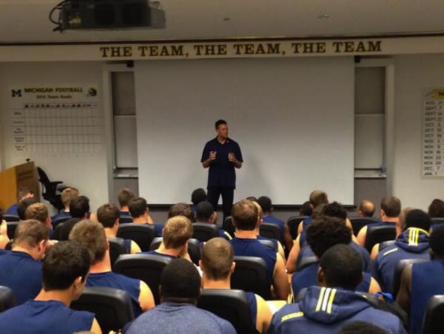 Tom Brady spent the morning at Michigan (Photo)