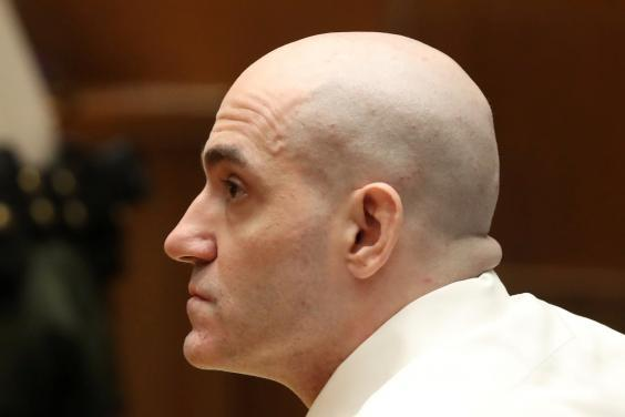 Michael Gargiulo sits in court during his murder trial in Los Angeles (REUTERS)