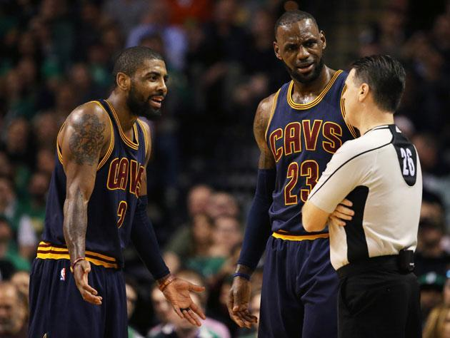 Kyrie Irving has apparently decided he's had enough of playing with LeBron James. (Getty)