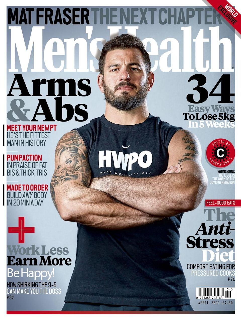"<p>For the full interview with Mat Fraser, pick up the April 2021 issue of Men's Health UK, or <strong><a href=""https://www.hearstmagazines.co.uk/mens-health-magazine-subscription"" rel=""nofollow noopener"" target=""_blank"" data-ylk=""slk:subscribe here"" class=""link rapid-noclick-resp"">subscribe here</a></strong> and enjoy Men's Health magazine delivered straight to your door every month with Free UK delivery. Buy direct from the publisher for the lowest price and never miss an issue!<br> <br><a class=""link rapid-noclick-resp"" href=""https://go.redirectingat.com?id=127X1599956&url=https%3A%2F%2Fwww.hearstmagazines.co.uk%2Fmh%2Fmens-health-magazine-subscription-website&sref=https%3A%2F%2Fwww.menshealth.com%2Fuk%2Fworkouts%2Fg35860554%2Fmat-fraser-workout-crossfit-hwpo%2F"" rel=""nofollow noopener"" target=""_blank"" data-ylk=""slk:SUBSCRIBE""><strong>SUBSCRIBE</strong></a> <br><br></p>"