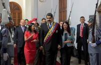 FILE PHOTO: Venezuela's President Maduro, his wife Flores and National Constituent Assembly President Rodriguez, arrive for a session of the assembly at Palacio Federal Legislativo in Caracas