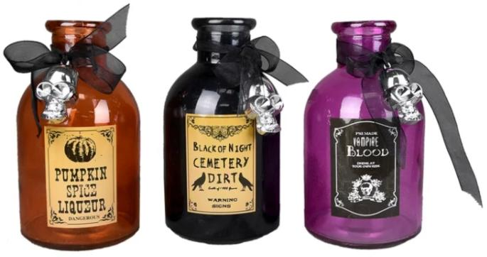 Witch Ingredient 3 Piece Decorative Bottle Set (Image via Wayfair)