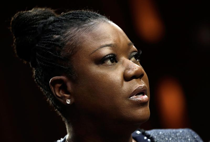 """Sybrina Fulton of Miami, Florida, mother of Trayvon Martin, testifies during a Senate Judiciary Committee hearing on """"Stand Your Ground"""" laws October 29, 2013 in Washington, DC"""
