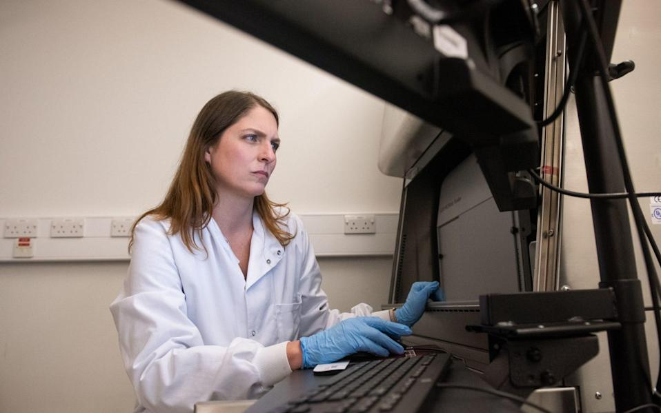 Professor Katie Ewer, senior immunologist for Oxford's Ebola and pre-erythrocytic malaria vaccine trials. Professor Ewer is part of the team working on the coronavirus vaccine developed by AstraZeneca and Oxford University - John Cairns/John Cairns