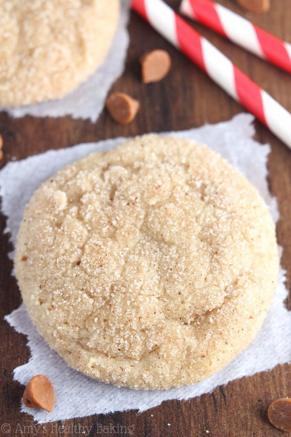 """<p>Even if you're not a fan of the drink, you won't be able to resist these eggnog-spiced snickerdoodles. </p><p><strong>Get the recipe at <a href=""""https://amyshealthybaking.com/blog/2014/12/08/eggnog-snickerdoodles/"""" rel=""""nofollow noopener"""" target=""""_blank"""" data-ylk=""""slk:Amy's Healthy Baking"""" class=""""link rapid-noclick-resp"""">Amy's Healthy Baking</a>.</strong></p><p><a class=""""link rapid-noclick-resp"""" href=""""https://www.amazon.com/gp/product/B0000CDVD2?tag=syn-yahoo-20&ascsubtag=%5Bartid%7C10050.g.647%5Bsrc%7Cyahoo-us"""" rel=""""nofollow noopener"""" target=""""_blank"""" data-ylk=""""slk:SHOP COOKIE SCOOPS"""">SHOP COOKIE SCOOPS</a></p>"""