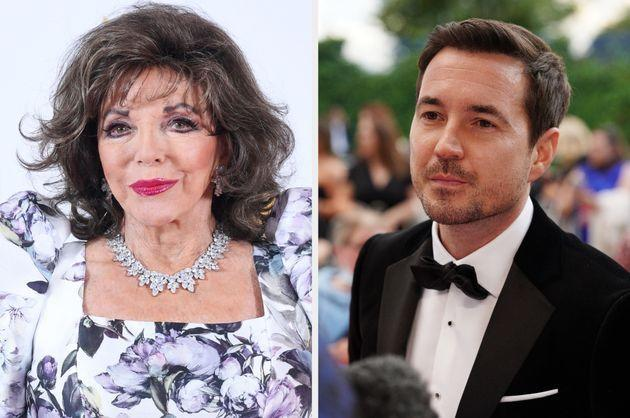 Joan Collins and Martin Compston (Photo: Shutterstock)