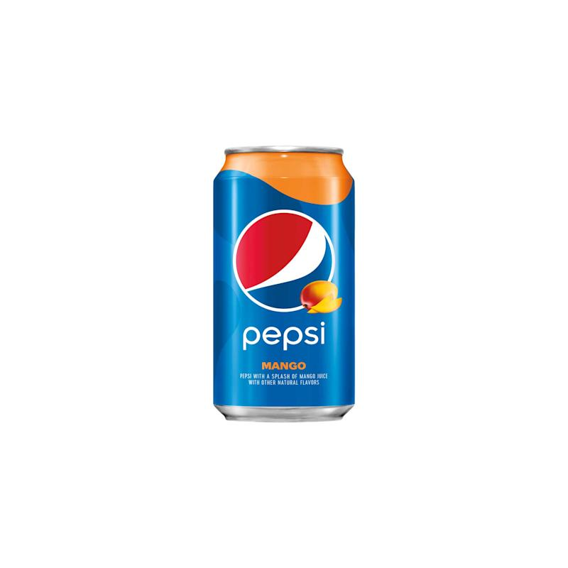 Pepsi® Mango: A splash of delicious mango juice paired with the bold and refreshing Pepsi you know and love