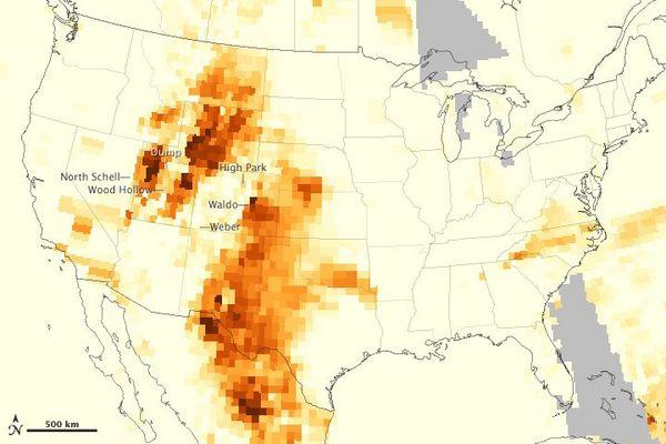 New NASA Map Reveals US Wildfire Pollution