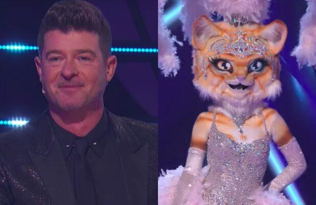 'Masked Singer': Kitty Gives Robin Thicke a Friendship Bracelet That Makes Him Think She's Katy Perry (Exclusive Video)