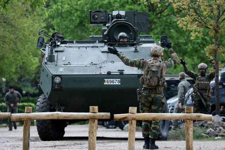 Hundreds of police and army personnel are on the hunt for a rogue soldiers who went missing after stealing weapons