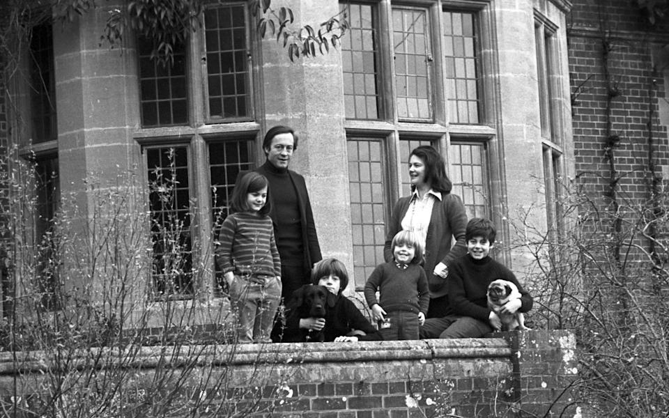 Sir George and Lady Christie at Glyndebourne with their children in 1975 - Mike Hoban