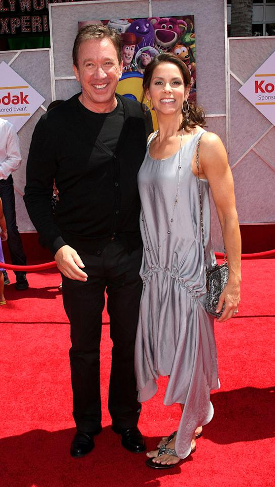 "<a href=""http://movies.yahoo.com/movie/contributor/1800021848"">Tim Allen</a> and wife Jane at the Los Angeles premiere of <a href=""http://movies.yahoo.com/movie/1809266566/info"">Toy Story 3</a> - 06/13/2010"