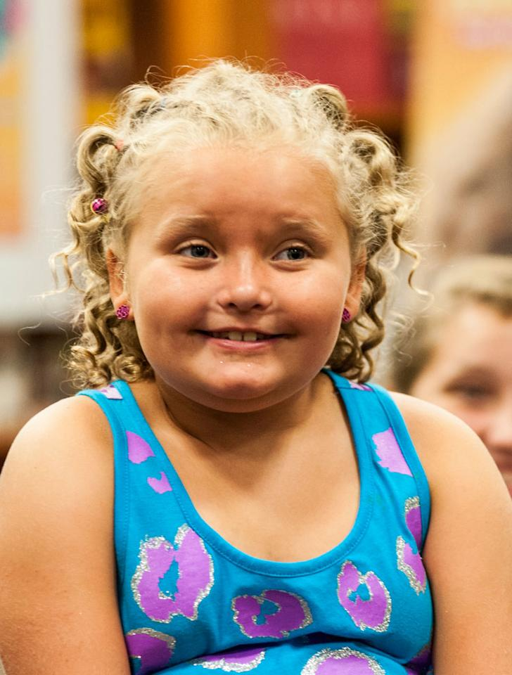 "Alana ""Honey Boo Boo"" Thompson attends the ""How to Honey Boo Boo: The Complete Guide"" Book Event at the Barnes and Nobles on July 11, 2013 in Mclean, Virginia."