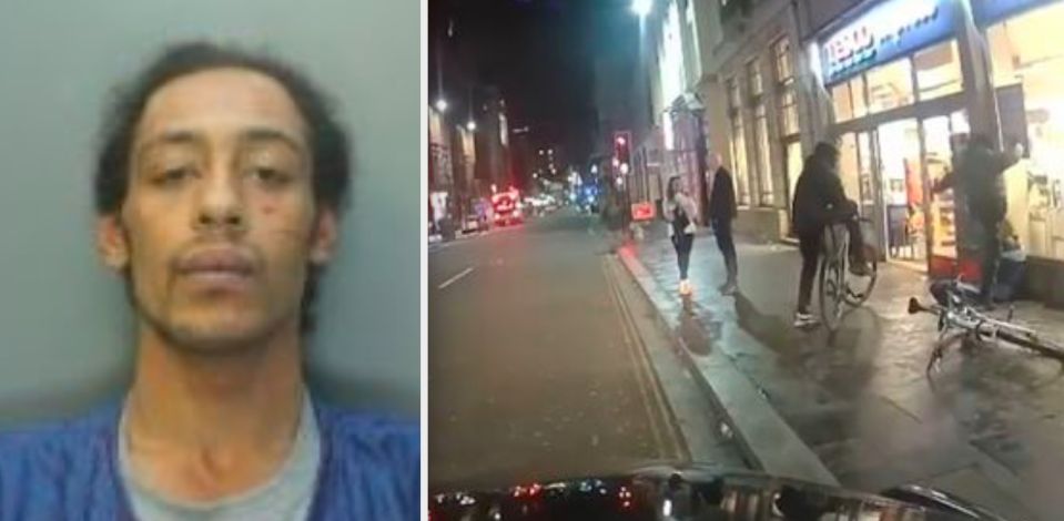 Theo Maulba was filmed kicking the man in the face as he sat outside Tesco Express. (Reach)