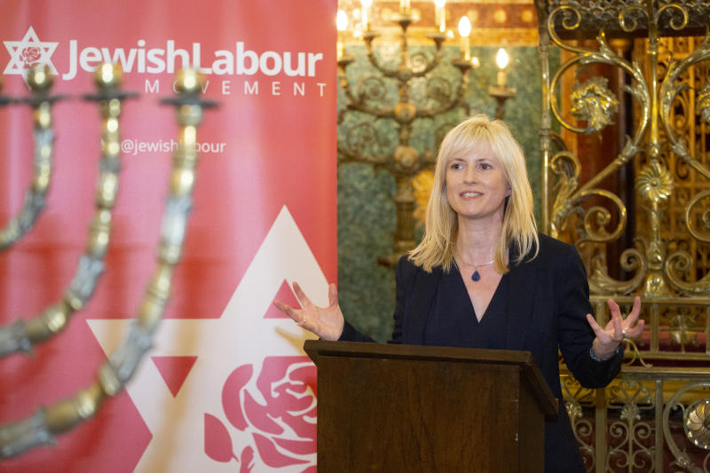 BRIGHTON ENGLAND - SEPTEMBER 22: Rosie Duffield Labour MP for Canterbury Speaking at the Jewish Labour Movement Rally Fringe event at the 2019 Labour Party conference. (Photo by Nicola Tree/Getty Images) on September 22, 2019 in Brighton, England.