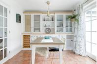 "<p>This lovely and bright Airbnb in Cornwall sits in the pretty village of Charlestown, where Poldark and Hollywood movies have been filmed. While it's thoroughly Cornish, there's a Mediterranean feel about the holiday cottage.</p><p>You'll find tiled floors, white walls throughout and elegant pops of green and pastel hues. The Airbnb is ideal for small families, with its location close to the Eden Project, plus the host has been praised for adding a high chair and a gate to the stairs for guests who bring little ones.</p><p><strong>Sleeps</strong>: 4</p><p><strong>Price per night:</strong> £120</p><p><strong>Why we love it: </strong>The light interiors delightful outdoor space make it ideal for summer staycations.</p><p><a class=""link rapid-noclick-resp"" href=""https://go.redirectingat.com?id=127X1599956&url=https%3A%2F%2Fwww.airbnb.co.uk%2Frooms%2Fplus%2F27805251%3Fsource_impression_id%3Dp3_1592808764_t%252B2%252FBbEak8bAgizo%26guests%3D1%26adults%3D1&sref=https%3A%2F%2Fwww.countryliving.com%2Fuk%2Ftravel-ideas%2Fstaycation-uk%2Fg32930188%2Fairbnb-cornwall-devon%2F"" rel=""nofollow noopener"" target=""_blank"" data-ylk=""slk:SEE INSIDE"">SEE INSIDE</a></p>"