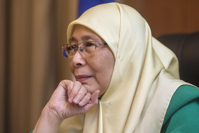 On the possibility of having laws against homosexuality reviewed, Wan Azizah said the government has yet to discuss the issue. — Picture by Mukhriz Hazim