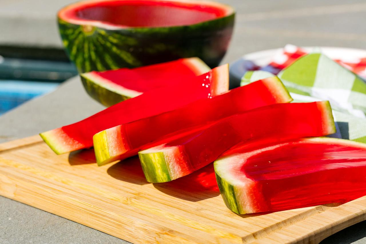 "<p>This party-size Jell-O shot <em>IS</em> the party.</p><p>Get the recipe from <a rel=""nofollow"" href=""http://www.delish.com/entertaining/recipes/a47465/giant-watermell-o-shot-recipe/"">Delish</a>.</p>"
