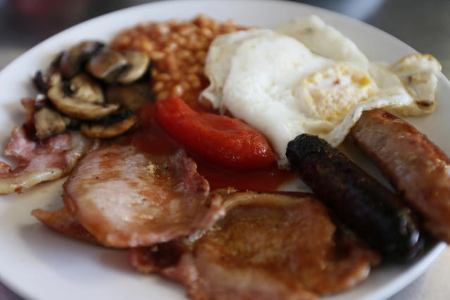 Jamie Larman ate up to seven full English breakfasts in his first week in training without paying. (Reuters/Stefan Wermuth)