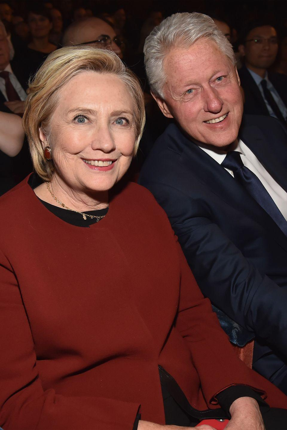 "<p>These two hardly need an introduction, as the Clintons are a true political powerhouse. Their 40-year-plus relationship has seen some major wins and a few hard spots, but together they have overcome these roadblocks.</p><p>""There were times that I was deeply unsure about whether our marriage could or should survive,"" she writes. ""But on those days, I asked myself the questions that mattered to me: Do I still love him? And can I still be in this marriage without becoming unrecognizable to myself—twisted by anger, resentment, or remoteness? The answers were always yes,"" <a href=""https://www.townandcountrymag.com/society/politics/a12217184/hillary-clinton-book-what-happened-quotes/"" rel=""nofollow noopener"" target=""_blank"" data-ylk=""slk:Hillary wrote"" class=""link rapid-noclick-resp"">Hillary wrote</a> of her husband in her third memoir <em><a href=""https://www.amazon.com/What-Happened-Hillary-Rodham-Clinton/dp/1501175564?tag=syn-yahoo-20&ascsubtag=%5Bartid%7C10063.g.34588738%5Bsrc%7Cyahoo-us"" rel=""nofollow noopener"" target=""_blank"" data-ylk=""slk:What Happened"" class=""link rapid-noclick-resp"">What Happened</a></em>.</p>"