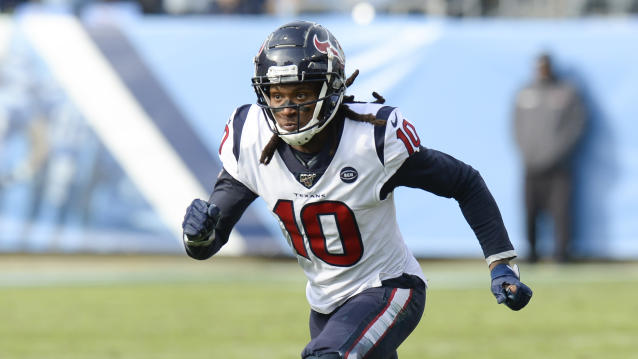 Houston Texans wide receiver DeAndre Hopkins has been a first-team All-Pro three straight years. (AP Photo/Mark Zaleski)