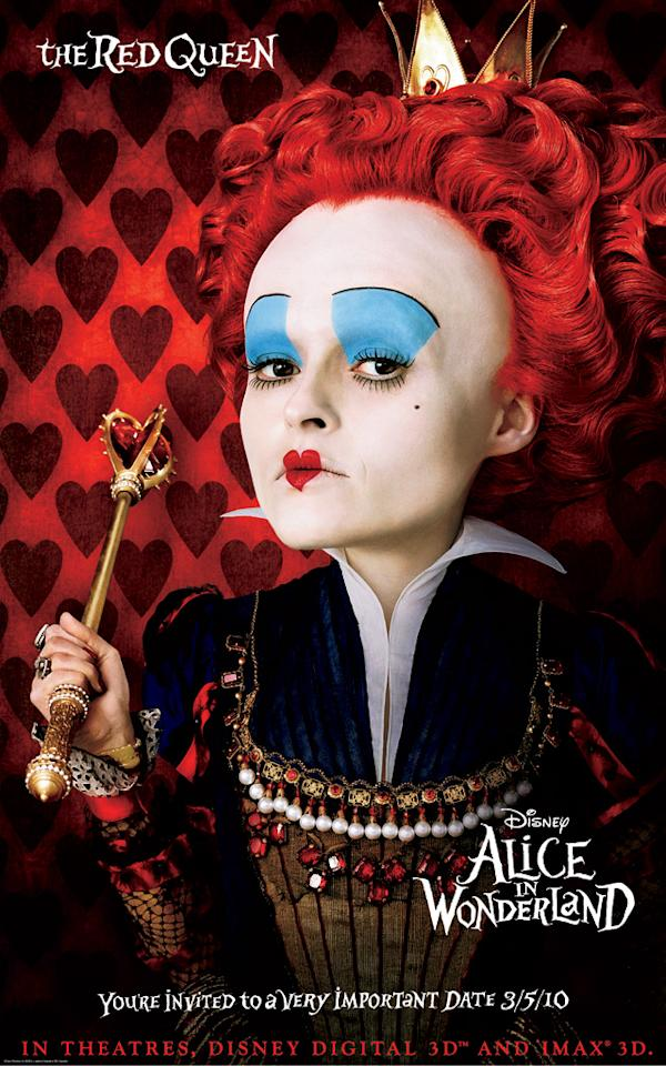"<a href=""http://movies.yahoo.com/movie/contributor/1800018966"">Helena Bonham Carter</a> stars as the Red Queen in Walt Disney Pictures' <a href=""http://movies.yahoo.com/movie/1810078365/info"">Alice in Wonderland</a> - 2010"
