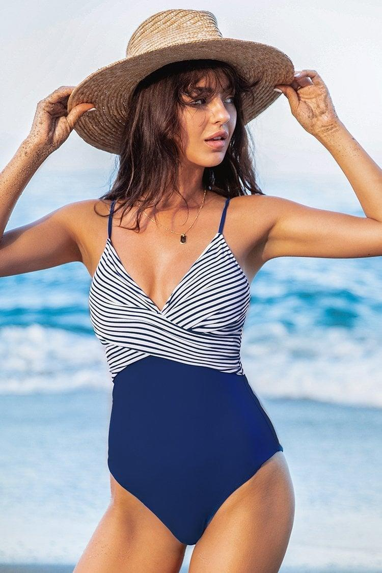 <p>The contrast of this <span>Cupshe One-Piece Swimsuit</span> ($28) makes it visually striking.</p>