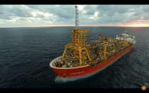 "<p>Stones, opened in September 2016, goes the deepest of any offshore structure by reaching a staggering 9,500 feet underwater. Located in the Gulf of Mexico off the shores of New Orleans, the <a href=""https://www.youtube.com/watch?v=Ej9SZs3dvbg&feature=youtu.be"" rel=""nofollow noopener"" target=""_blank"" data-ylk=""slk:above-water structure"" class=""link rapid-noclick-resp"">above-water structure</a> was built in Singapore before making the cross-ocean trip to its current location, where it ties to wells. <a href=""https://www.shell.com/about-us/major-projects/stones.html"" rel=""nofollow noopener"" target=""_blank"" data-ylk=""slk:Stones"" class=""link rapid-noclick-resp"">Stones</a> uses a flexible ""steel lazy wave riser"" to carry oil and gas to the top, with the bend in the piping absorbing the motion of the structure.</p>"