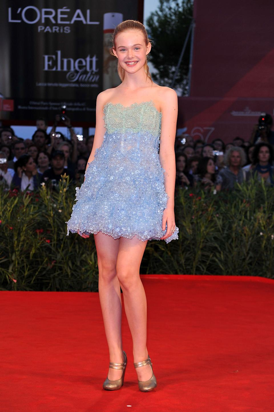 "Fanning at the ""Somewhere"" premiere during the 67th Venice Film Festival at the Sala Grande Palazzo Del Cinema in Venice."