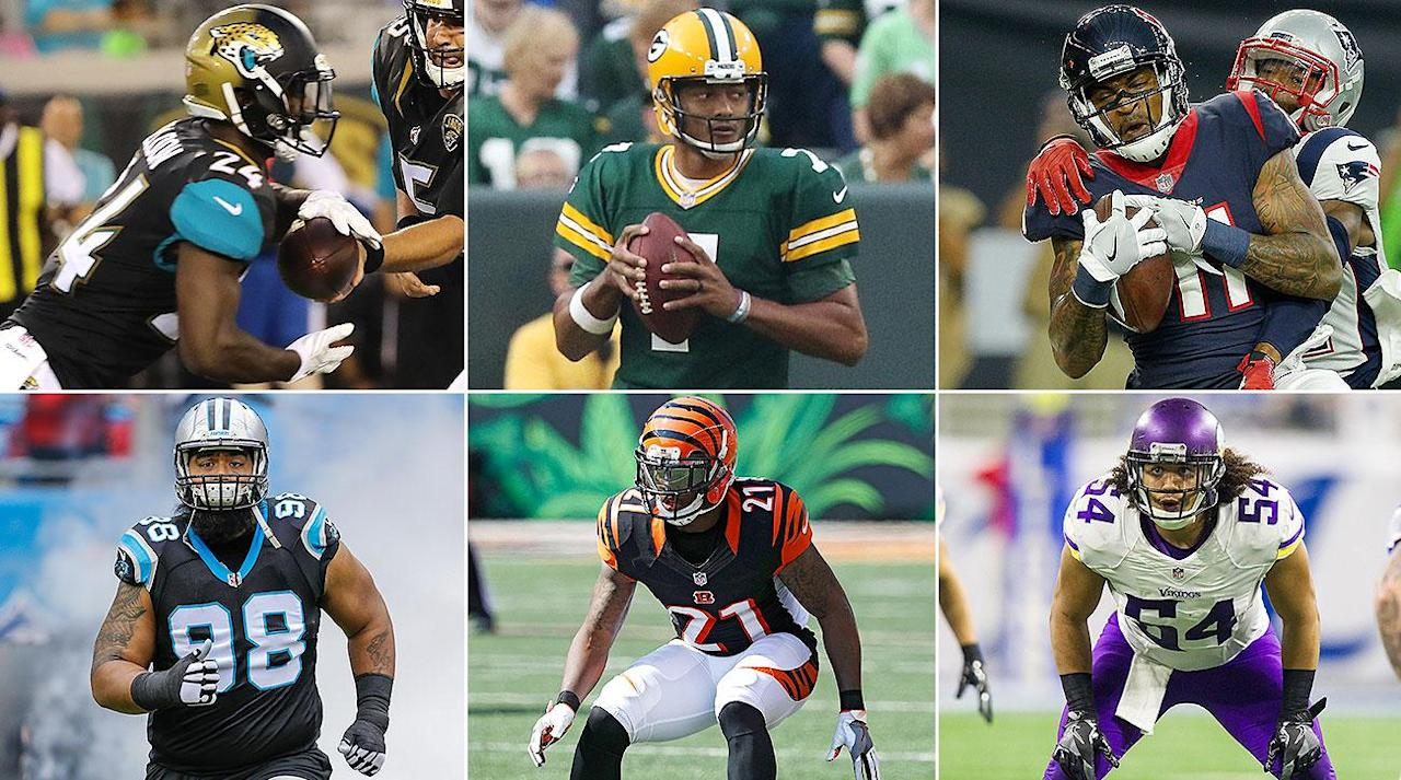 """<p>Our expansion franchise had to pick at least one player, but no more than two, off each current NFL roster (minus the keepers). If the franchise selected two players off the same roster, they had to come from different sides of the ball—one defense, one offense (or special teams); it could not, for example, select two Seattle wide receivers. </p><p>The post-draft roster includes 42 players, of varying contracts and NFL experience. It is, at first blush, a stronger outfit, on paper, than what the Texans cobbled together.</p><p><strong>QB: Brett Hundley (Green Bay)</strong><br /><strong>QB: Chase Daniel (New Orleans)</strong></p><p>With Cincinnati's A.J. McCarron and New England's Jimmy Garoppolo both landing on the """"protected"""" list in this exercise, the expansion-draft options at QB were limited. Nab a retread like Nick Foles, Matt Barkley or Ryan Mallett? Or roll the dice on a young, developing arm with intriguing upside?</p><p>The result here: a little from column A and a little from column B. The Packers <a rel=""""nofollow"""" href=""""https://ec.yimg.com/ec?url=http%3a%2f%2fwww.espn.com%2fblog%2fgreen-bay-packers%2fpost%2f_%2fid%2f38618%2fpackers-emphasize-defense-first-in-draft-but-did-they-do-enough-to-fix-it%26quot%3b%26gt%3breportedly%26lt%3b%2fa%26gt%3b&t=1503569212&sig=CCJHG6gFA3PLwdB3g_E7og--~D shopped Hundley at this year's draft, only to keep him in place as Aaron Rodgers's backup. He's blocked from ever seeing the field there (assuming Rodgers stays healthy), but he also could receive the same boost in NFL circles that Tom Brady's backups have in the past—i.e. that playing behind a great, in a high-powered system, naturally makes QB2 better. Whether or not that's true, Hundley moves the needle more than any other expansion-available quarterback.</p><p>Helping to hold the down fort as Hundley settles in is Daniel, who has just two career starts under his belt but has seven seasons of NFL experience. With 11 open spots on the roster post-expansion draft, there"""