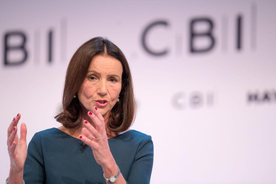 Carolyn Fairbairn, director general of the Confederation of British Industry (CBI), speaks at the Confederation of British Industry (CBI)annual conference in London, U.K., on Monday, Nov. 19, 2018. U.K. Prime Minister Theresa Maywill appeal to business leaders to help deliver her Brexit deal, as she fights implacable opposition in Parliament and a possible leadership challenge. Photographer: Jason Alden/Bloomberg via Getty Images