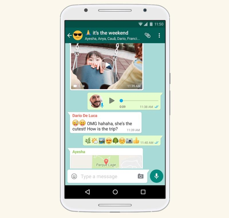 WhatsApp lets you chat with 4 people at a time, but offers end-to-end encryption for the security-minded. (Image: WhatsApp)