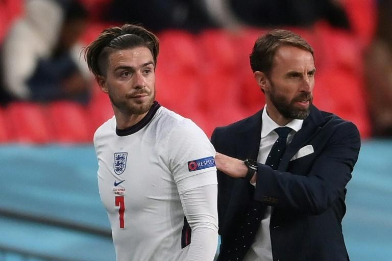 Jack Grealish (left)has found competition for places tough in Gareth Southgate's England side