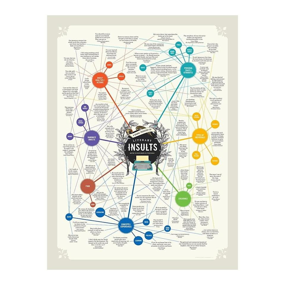 <p>This <span>Literary Insults Chart</span> ($25) will make anyone smile.</p>