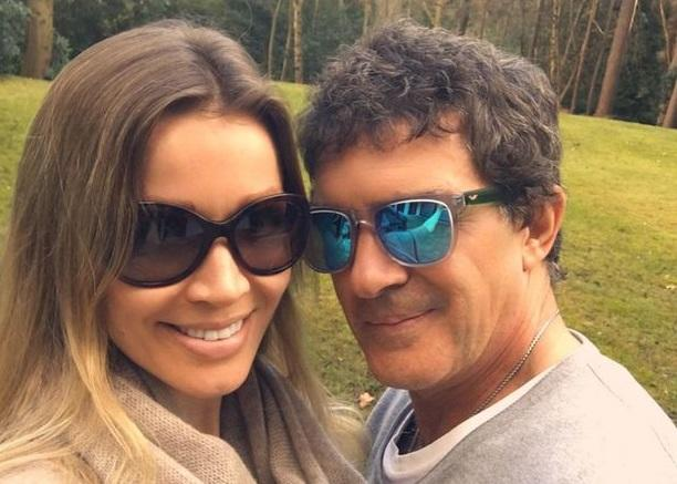 Actor Antonio Banderas and model Nicole Kempel