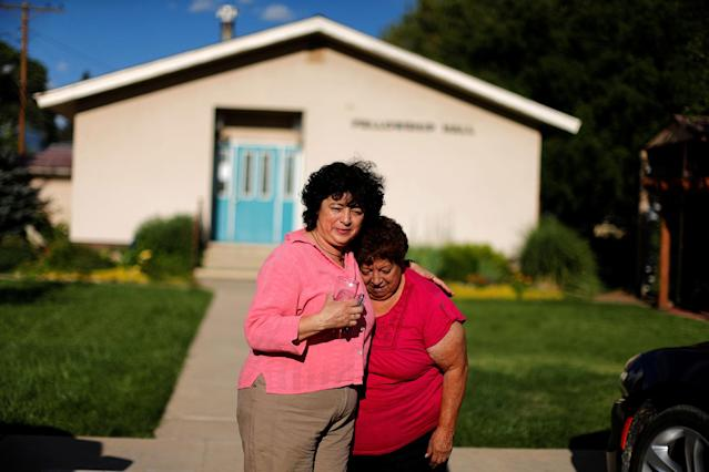 <p>Immigrant Rosa Sabido, 53, (L) who lives in sanctuary in the United Methodist Church while facing deportation, says goodbye to her mother Blanca Estela Valdivia, 70, in Mancos, Colo., July 19, 2017. (Photo: Lucy Nicholson/Reuters) </p>