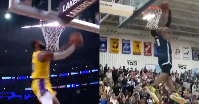 Watch Lebron S Son Perfectly Recreate His Dad S Kobe Tribute Dunk