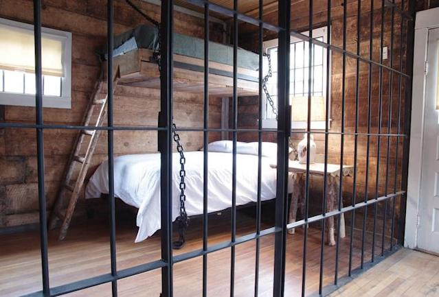 <p>Each cell has at least a double bed and this one has a twin bunk. </p>