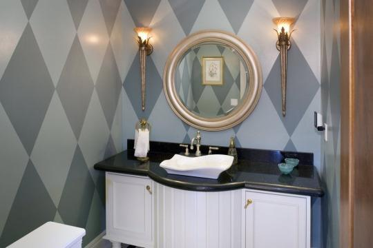 """<p><b>Top 2016 Trend: Art deco-inspired patterns and shapes</b><br></p><p>Art deco will make a bold new comeback in 2016. Look for the style's trademark geometric patterns and honeycomb shapes to weave their way into everything from wallpaper to artwork, adding elegance and dimension to any space. Experts also predict gold statement lighting fixtures will become more popular. <i>Courtesy of <a href=""""http://www.zillow.com/digs/art-deco-powder-rooms-140574626/"""" rel=""""nofollow noopener"""" target=""""_blank"""" data-ylk=""""slk:Zillow Digs"""" class=""""link rapid-noclick-resp"""">Zillow Digs</a>.</i></p>"""