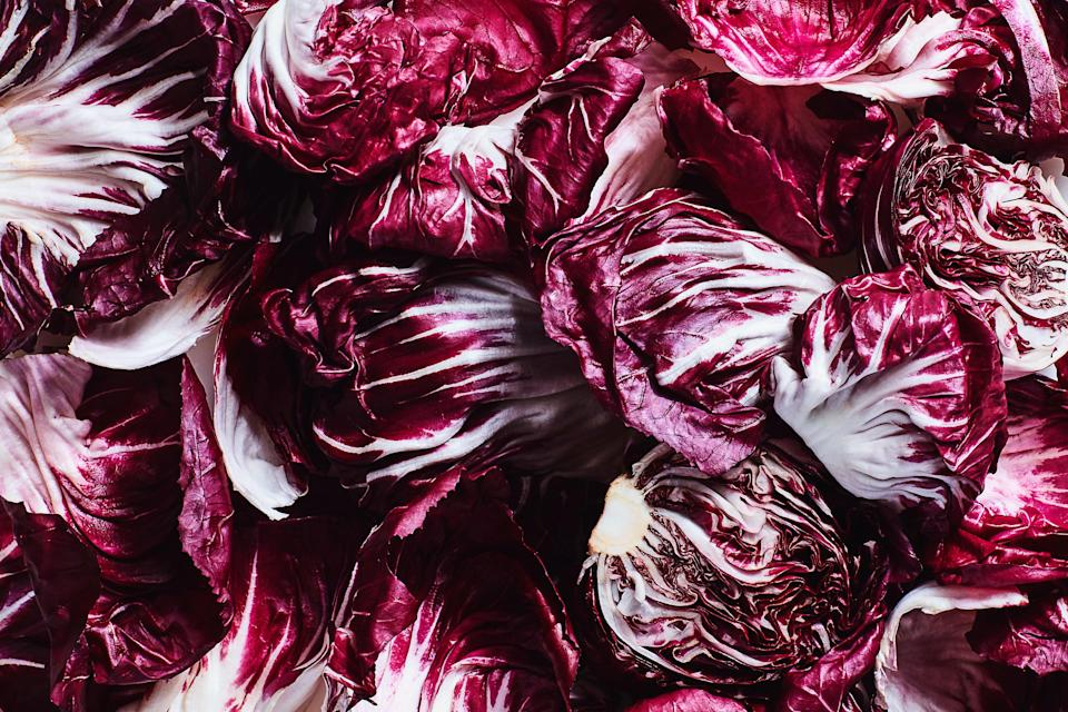 """<h1 class=""""title"""">A Guide to Cooking Chicories- Chioggia Radicchio</h1> <cite class=""""credit"""">Photo by Chelsea Kyle, Food Styling by Olivia Mack Anderson</cite>"""