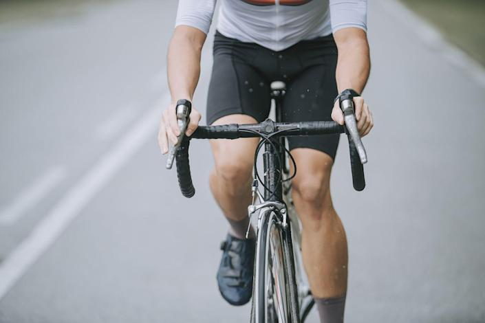"""<p>Pushing heavy gears at a low cadence—below 60 to 75 rpm—places a high load through the patella (kneecap) with each pedal stroke. Use your gears to lower the load and <a href=""""https://www.bicycling.com/health-nutrition/a27454779/cycling-cadence-ideal/"""" rel=""""nofollow noopener"""" target=""""_blank"""" data-ylk=""""slk:increase your cadence"""" class=""""link rapid-noclick-resp"""">increase your cadence</a> to spin above 80 rpm. Bonus: Spinning faster in lower gears has been shown to improve your endurance.</p>"""