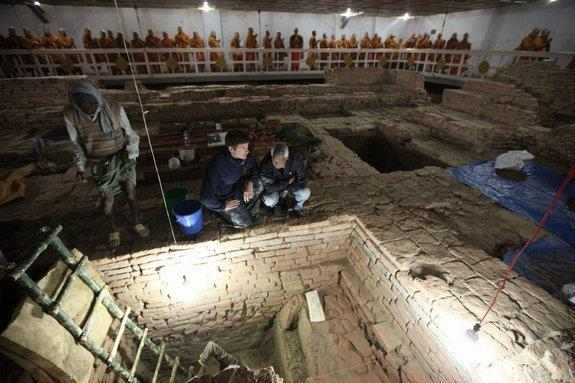 Shrine Found at Buddha's Birthplace dates to 6th Century B.C.