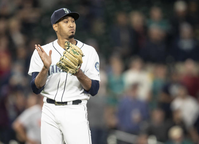 Edwin Diaz, the 24-year-old closer, had 57 saves and a 1.96 ERA last season for the Seattle Mariners. (Getty Images)